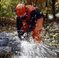 Cutting up a fallen tree