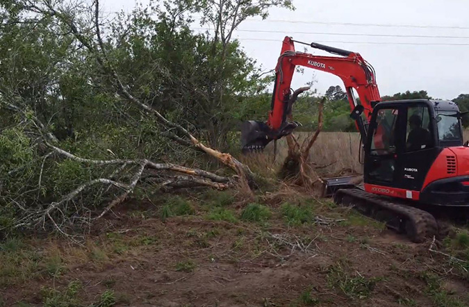 Land clearing services in northern VA
